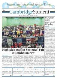 Michaelmas Issue 2 - The Cambridge Student - University of ...