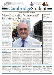 "Vice Chancellor ""concerned"" for future of bursaries - The Cambridge ..."