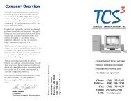 Company Overview - Technical Computer Solutions, Inc.