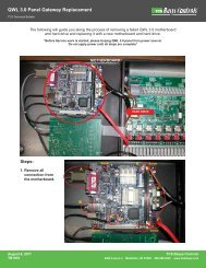 QWL 3.0 Panel Gateway Replacement -- PDF - TCS Basys Controls