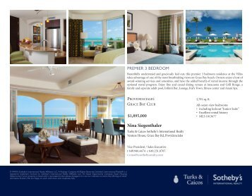 Nina Siegenthaler - Turks & Caicos Sotheby's International Realty