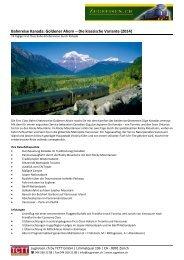 Preise und weitere Informationen erhalten Sie hier (PDF) - TCTT