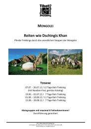 Mongolei Reit-Trek 2012