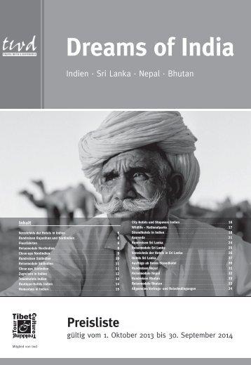Download Preisliste Dreams of India 2013/2014 (pdf ... - TCTT