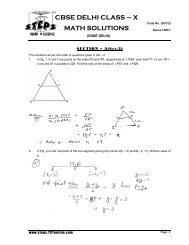 CBSE DELHI CLASS – X MATH SOLUTIONS - TCYonline.com