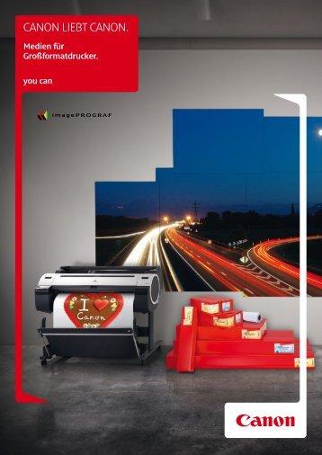 Canon Broschüre LFP-Medien