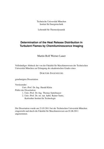 Determination of the Heat Release Distribution in Turbulent Flames ...