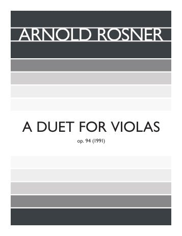 Rosner - A Duet for Violas, op. 94