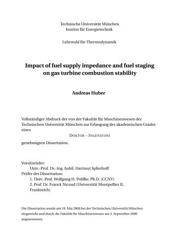 Impact of fuel supply impedance and fuel staging on gas turbine ...