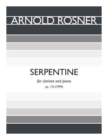 Rosner - Serpentine, op. 110