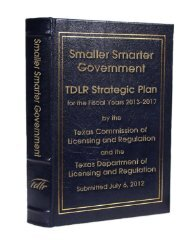 Strategic Plan for FY 2013 - Texas Department of Licensing and ...
