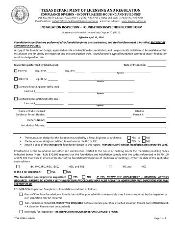 Architectural Barriers Project Registration Form - Texas ...