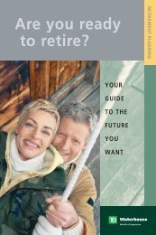 Are you ready to retire? (pdf) - TD Waterhouse