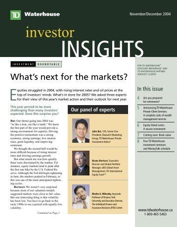 en_JN0410 Insights.indd - TD Waterhouse