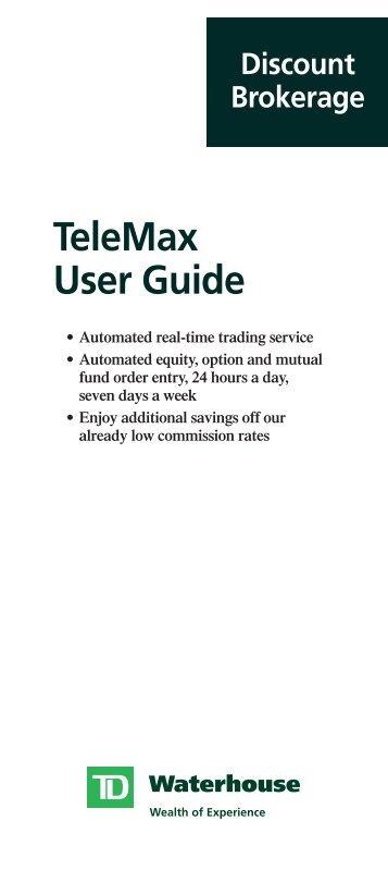 TeleMax User Guide - TD Waterhouse