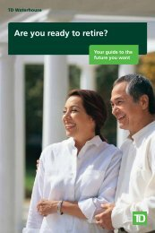 Are you ready to retire? (pdf) (opens new window) - TD Waterhouse
