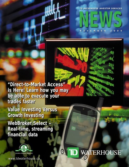 """Direct-to-Market Access"""" is Here! Learn how you     - TD"""