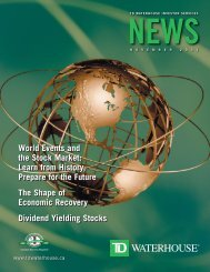 World Events and the Stock Market: Learn from ... - TD Waterhouse