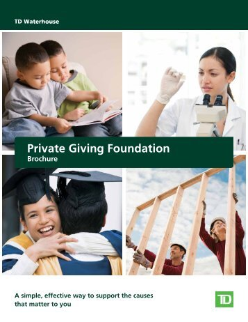 Private Giving Foundation - TD Waterhouse