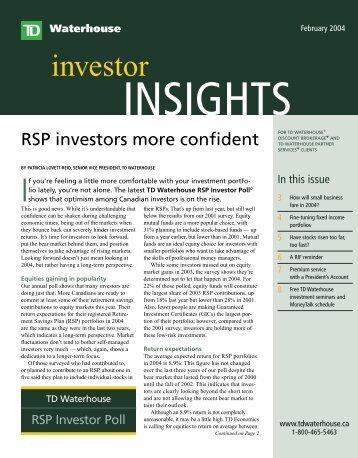 investor - TD Waterhouse