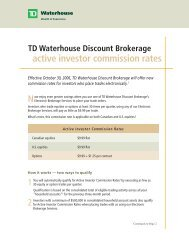 TD Waterhouse Discount Brokerage Account Application Form