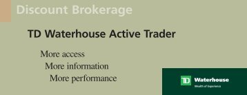 3358 TDW DB Active Trader Br - TD Waterhouse