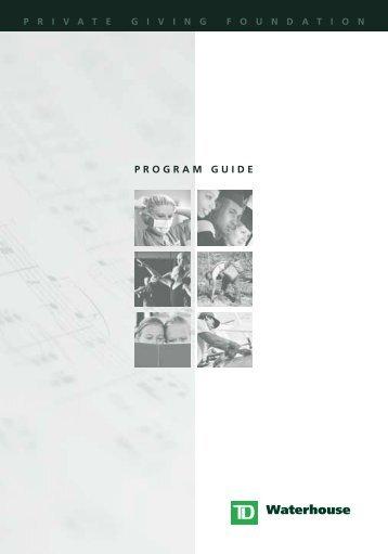 PROGRAM GUIDE - TD Waterhouse