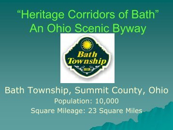 """Heritage Corridors of Bath"" An Ohio Scenic Byway - Bath Township"