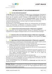 Informationsblatt Unternehmenskarte