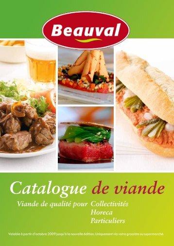 Catalogue de viande - Beauval