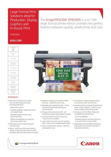 Large Format Print Solutions ideal for Production, Display Graphics ...