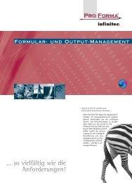 ProForma infinitec EMF - Okapost GmbH