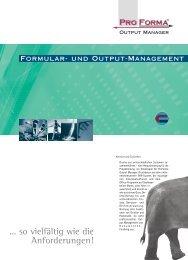 ProForma Output Manager - Okapost GmbH