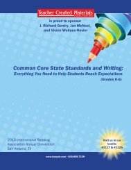 Common Core State Standards and Writing: - Teacher Created ...