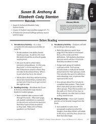 Susan B. Anthony & Elizabeth Cady Stanton - Teacher Created ...