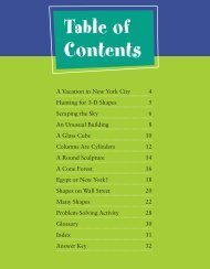 Table of Contents - Teacher Created Materials