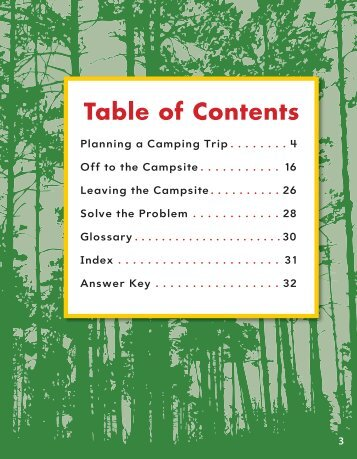 3 Table of Contents - Teacher Created Materials