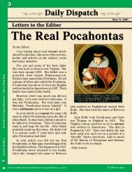 The Real Pocahontas - Teacher Created Materials