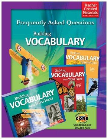 Download PDF version of this FAQ - Teacher Created Materials
