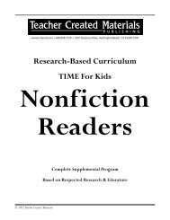 TIME For Kids Nonfiction Readers - Teacher Created Materials