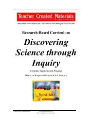 Discovering Science through Inquiry - Teacher Created Materials