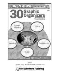 How to Use the Graphic Organizer - Shell Education