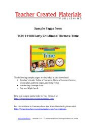 Sample Pages from TCM 14488 Early Childhood Themes: Time