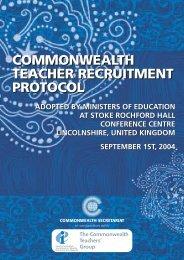 Commonwealth Teacher Recruitment Protocol - National Union of ...