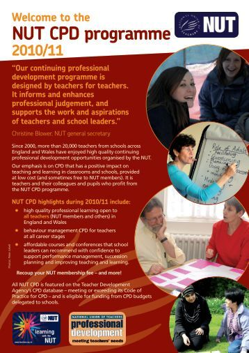 NUT CPD programme - National Union of Teachers