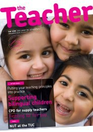Supporting bilingual children - National Union of Teachers