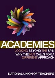 Academies: Looking Beyond the Spin - National Union of Teachers