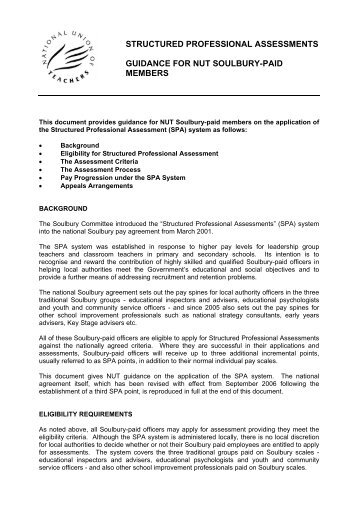 structured professional assessments guidance for nut soulbury-paid ...