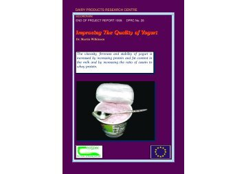 Improving the quality of yogurt - 4615 - Teagasc