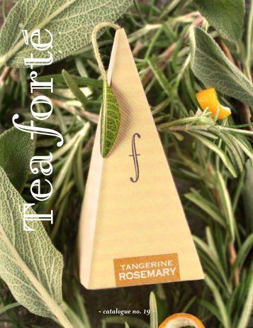 Download our 2013 Retail Winter Catalog - Tea Forte